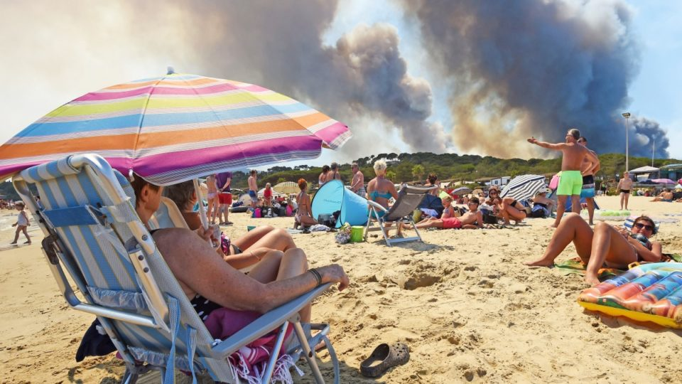 French riviera fires