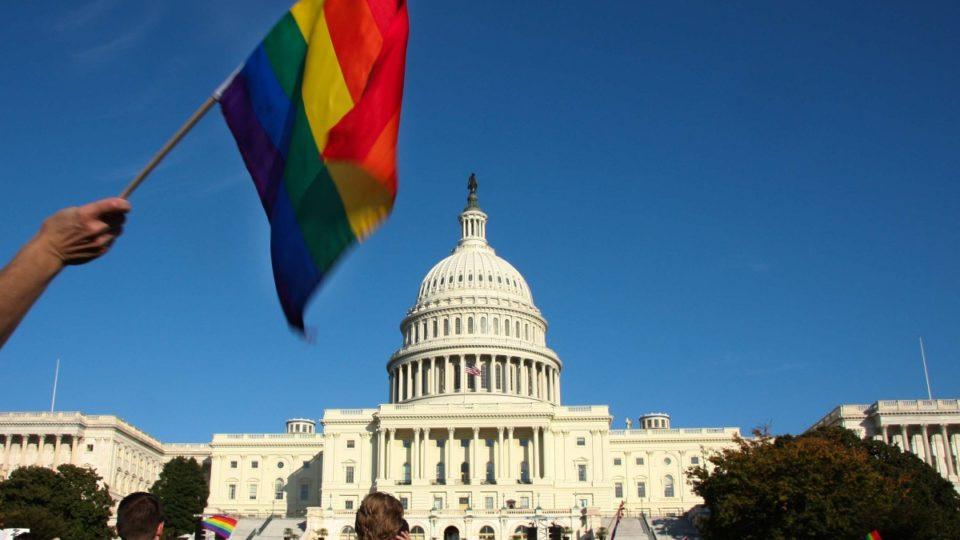 LGBT flag white house
