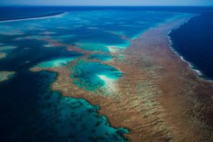 Great Barrier Reef from the sky