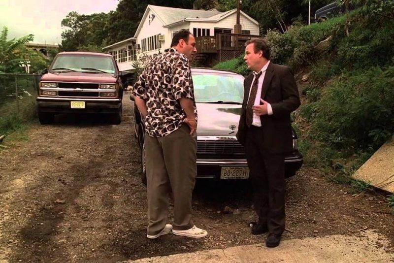John Heard and James Gandolfini in The Sopranos