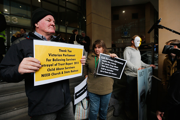 George Pell protesters