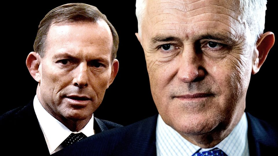 Image result for Liberal Convention shaping up to be Turnbull v Abbott showdown