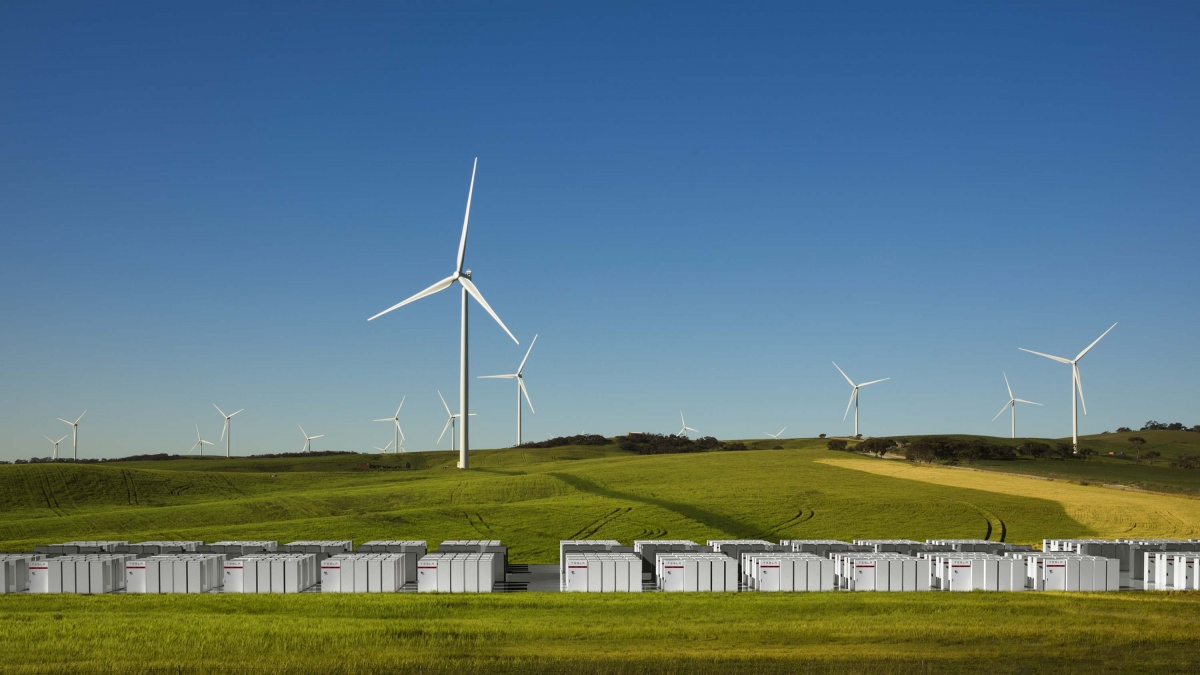 Tesla's impression of the South Australian battery farm