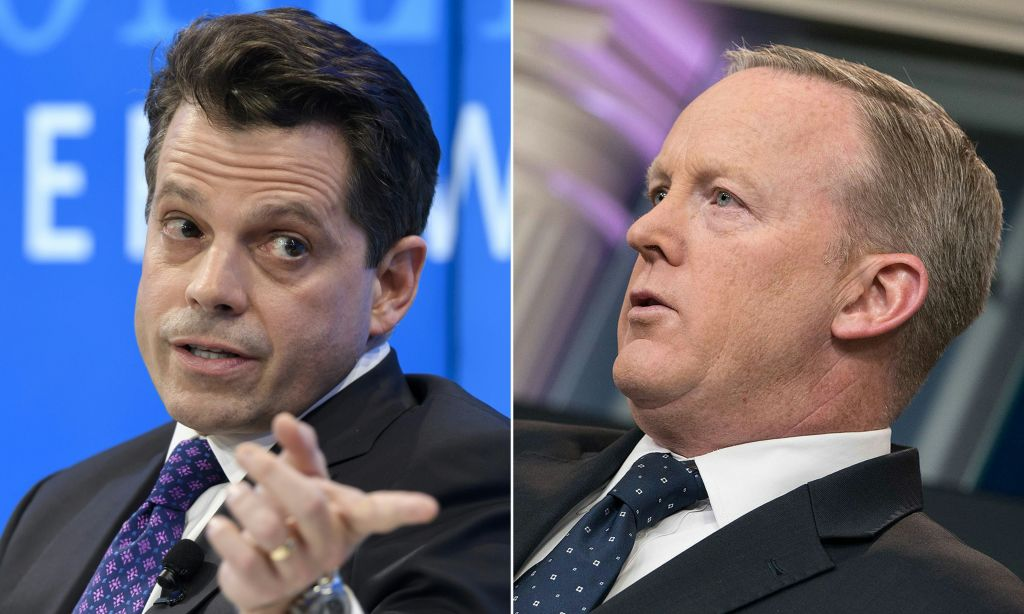 Anthony Scaramucci and Sean Spicer