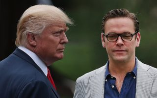 Donald Trump and James Murdoch
