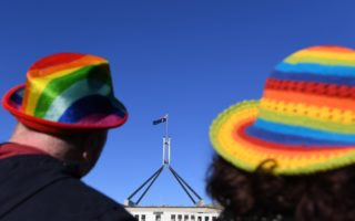 The AEC website crashed as Australians rushed to check their enrolment ahead of the postal plebiscite for marriage equalirt