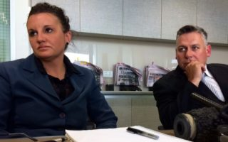 Jacqui Lambie and her former chief of staff Rob Messenger