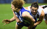 Brodie Grundy and Ben Brown