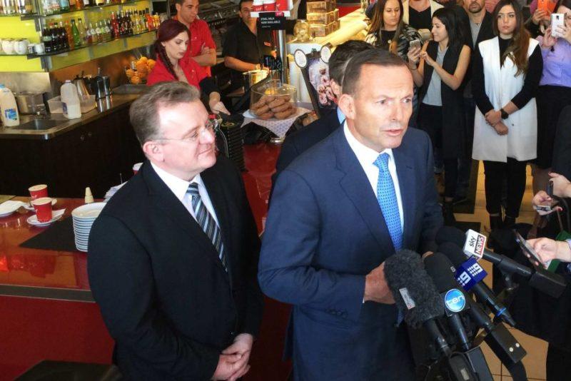 Bruce Billson and Tony Abbott