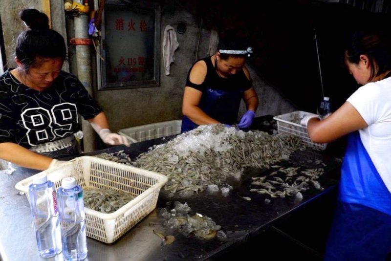 Fish markets at Dandong