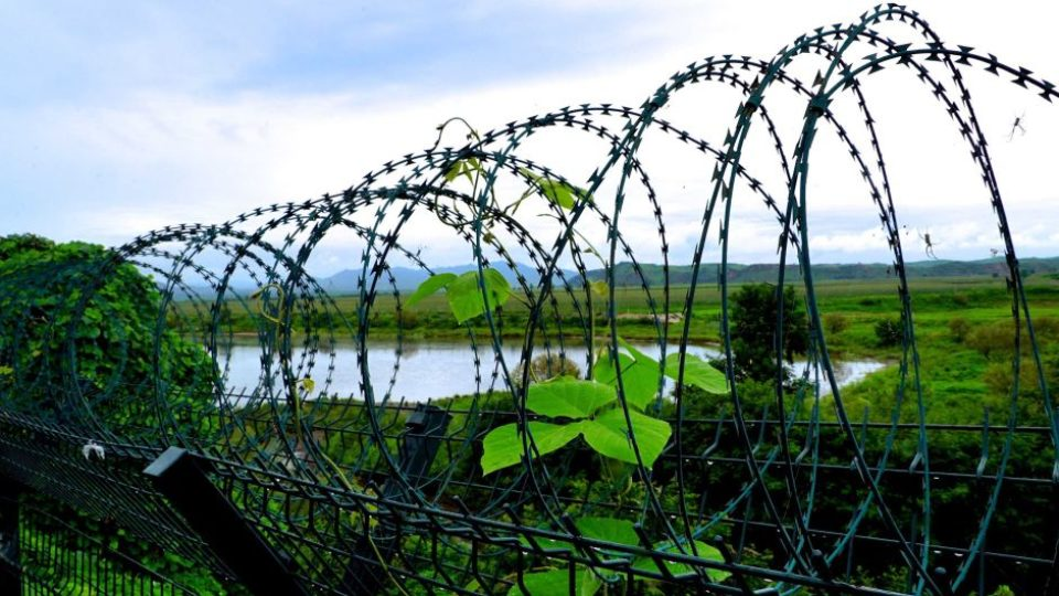 Looking into North Korea from Chinese side of the border
