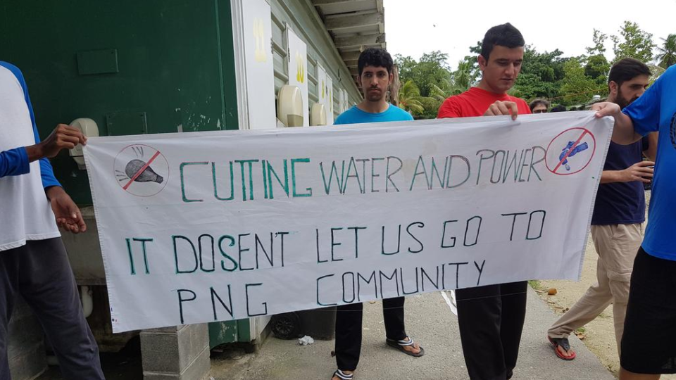 """The United Nations has warned of """"deteriorating conditions"""" on Manus Island as water and electricity is cut off"""