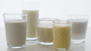 soy milk almond milk rice milk