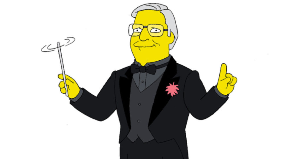 Alf Clausen, the composer who's scored The Simpsons for 27 years, has been sacked.