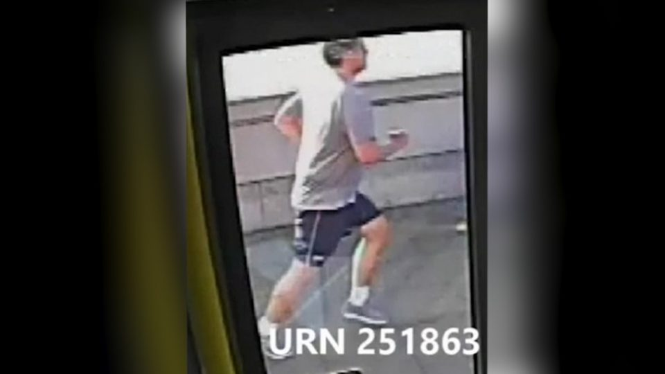 jogger pushes woman into path of bus
