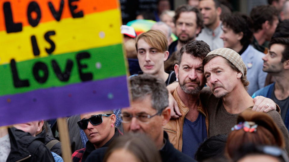 Australians Rally For Free Vote On Marriage Equality Sydney