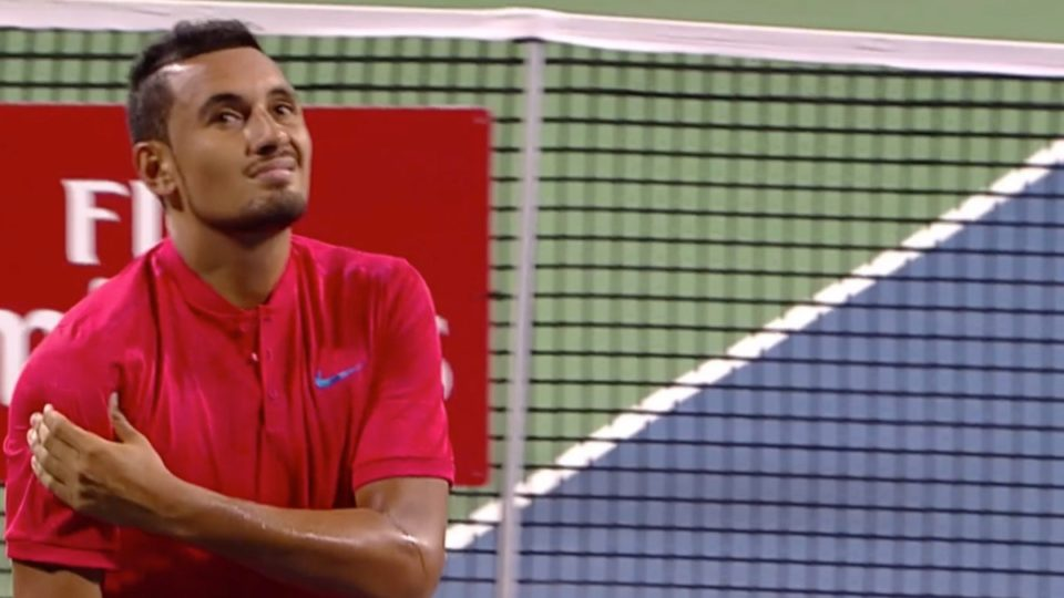 Nick Kyrgios injures shoulder in US Open lead-up event in Washington