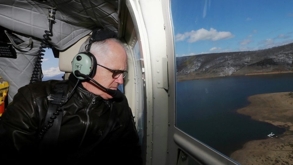 clean energy turnbull helicopter