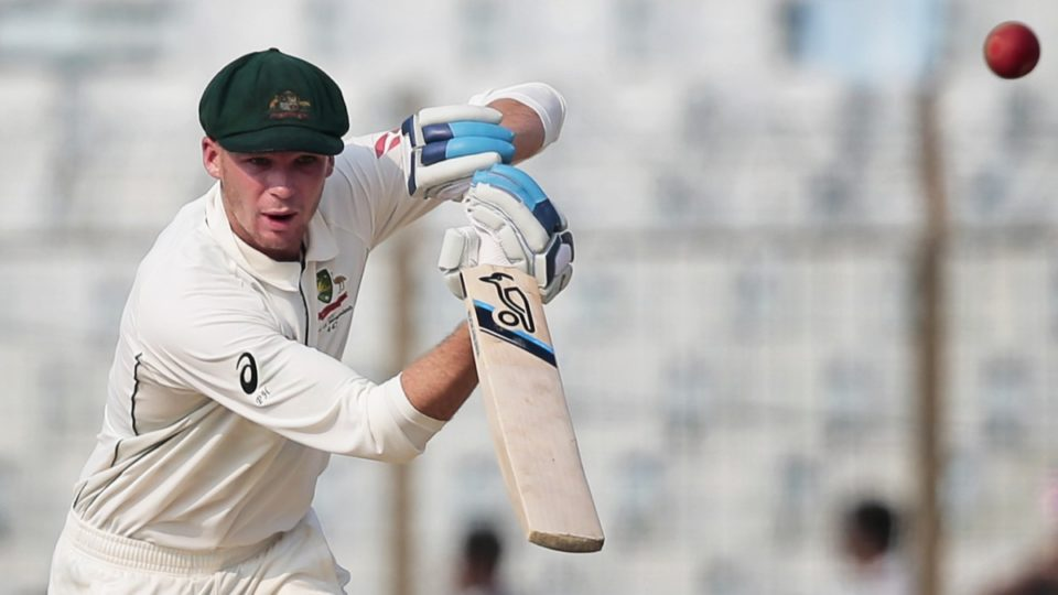 Peter Handscomb fell ill as Australia trailed Bangladesh