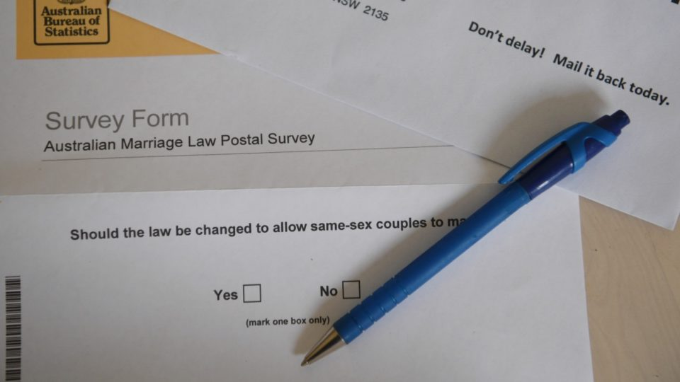 Support for same-sex marriage has taken a dive.