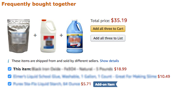Amazon bomb explosives algorithm frequently bought together