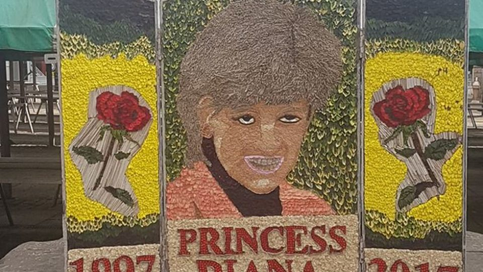 princess diana well dressing mural in chesterfield mocked. Black Bedroom Furniture Sets. Home Design Ideas