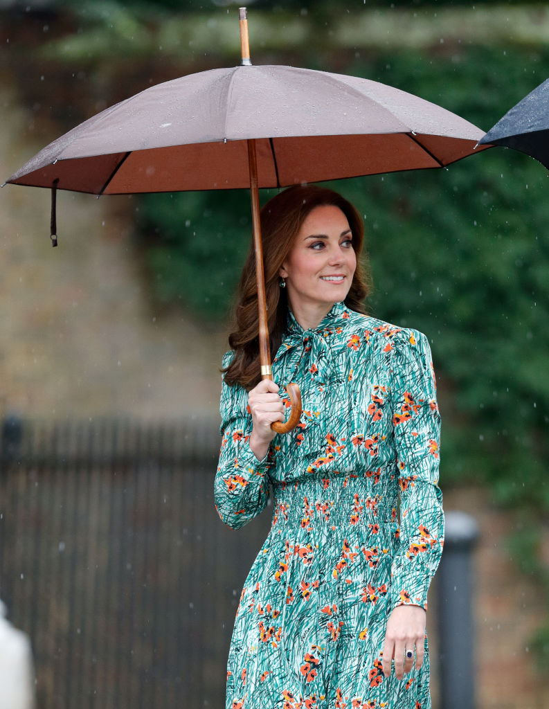 The Duchess of Cambridge was last seen at a memorial garden for Princess Diana last week