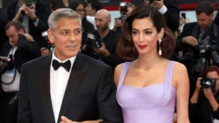 The Clooneys walk the red carpet ahead of the Suburbicon screening at the 74th Venice Film Festival.