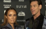 Jim Carrey is interviewed by Catt Sadler on the Bazaar's ICONS New York Fashion Week red carpet