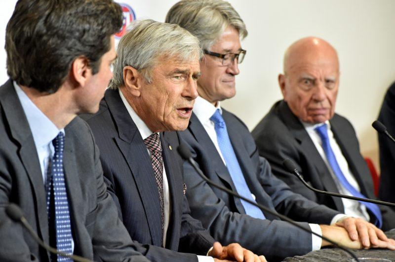 Kerry Stokes with Rupert Murdoch