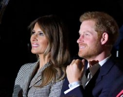 Melania Trump and Prince Harry at the Invictus Games.