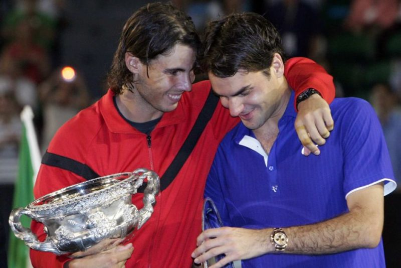 Rafael Nadal and Roger Federer at the 2009 Australian Open
