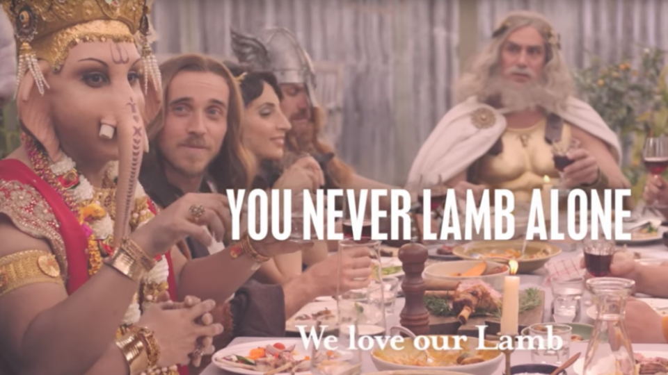 This Australian Advt Depicting Lord Ganesha Feasting On Lambs Leaves Hindus Infuriated