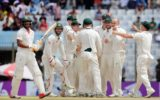 Shakib Al Hasan trudges off as Nathan Lyon celebrates
