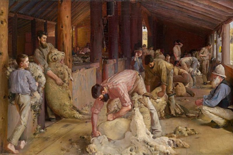 Shearing the rams, by Tom Roberts