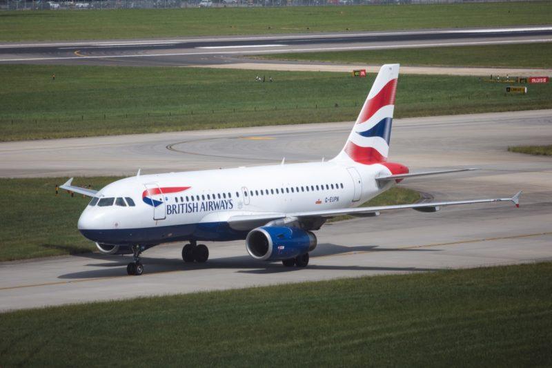British Airways plane on runway