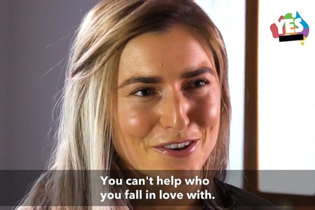 Frances Abbott takes part in yes campaign video
