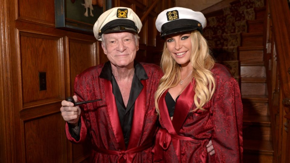 Hugh Hefner and wife