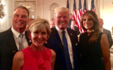 Ms Bishop also posted a photo on Twitter with herself, partner David Panton and Mr Trump and first lady Melania Trump together at a UN event.