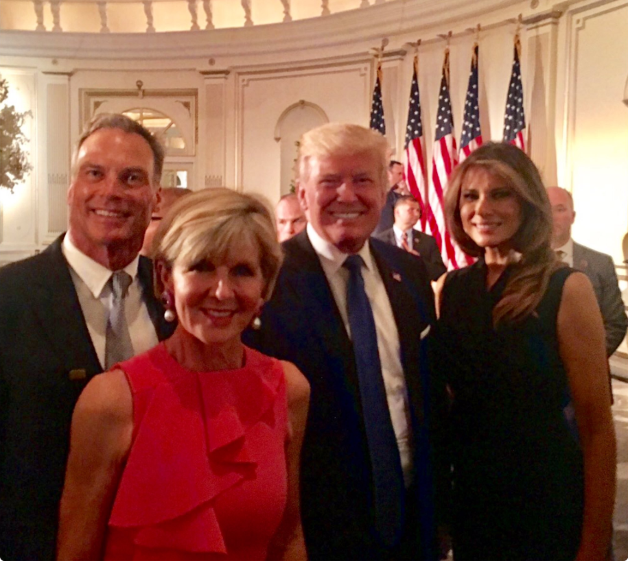 Julie Bishop Donald Trump