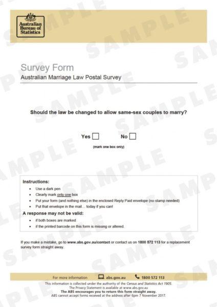 postal survey