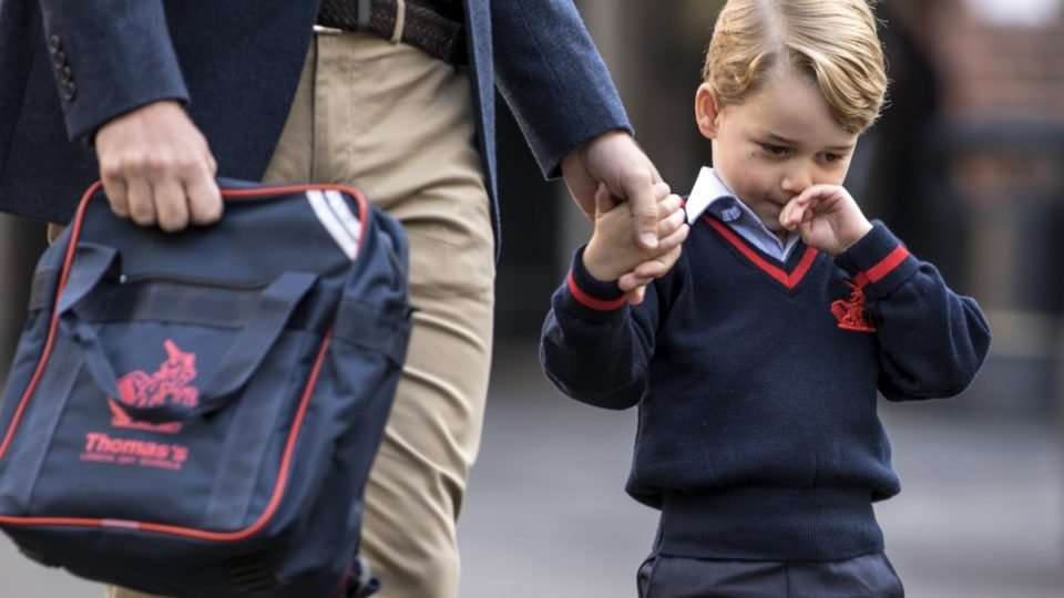 prince george first day of school