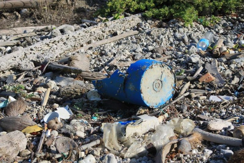 Rubbish Queensland beach