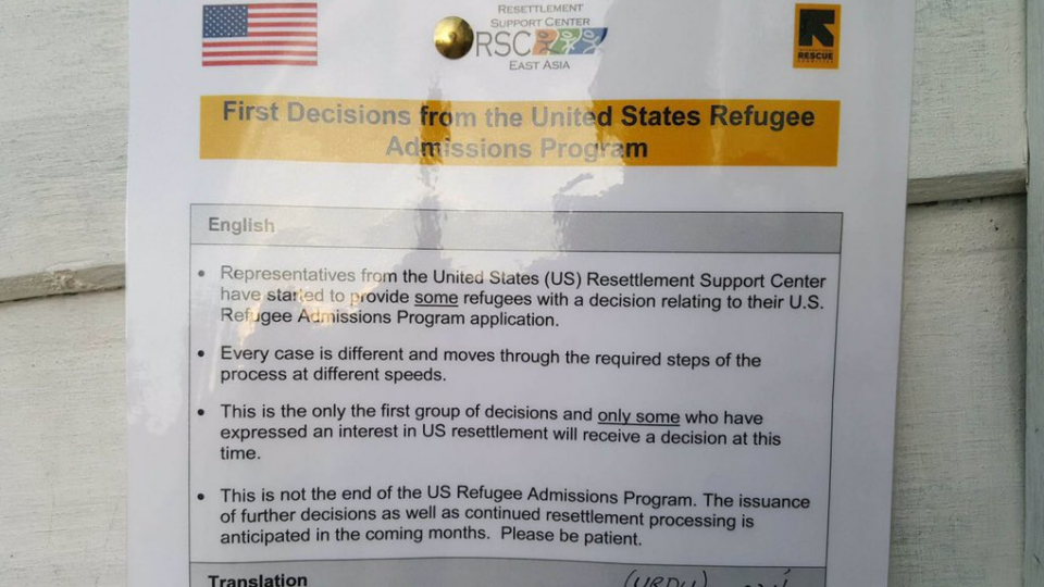 First wave of refugees to United States from Pacific camps imminent