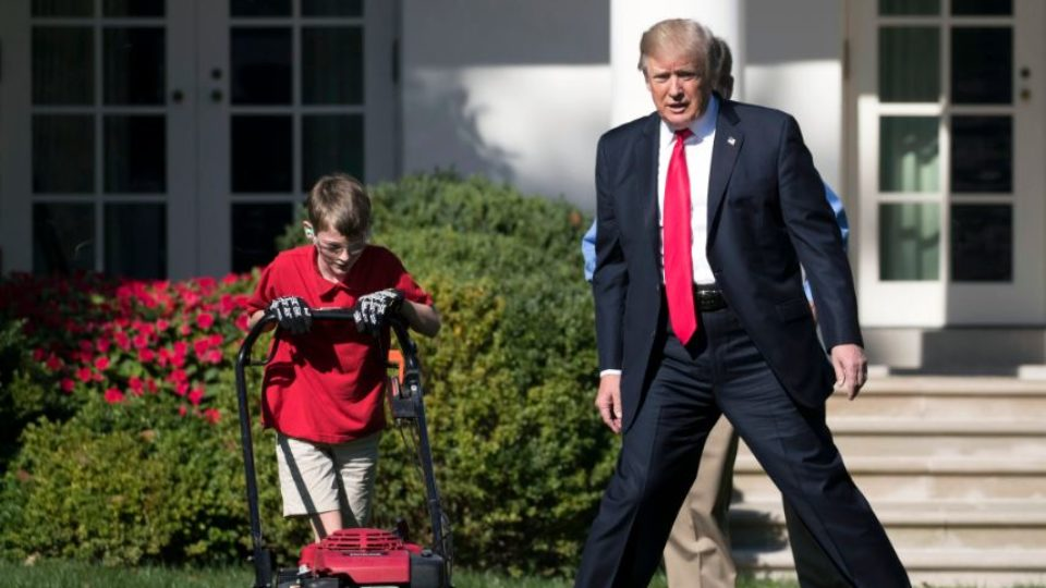 11-Year-Old Boy Realizes Dream to Mow White House Lawn