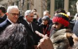 PMs meeting with indigenous man in Canberra turns to chaos