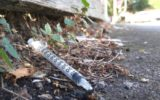 Used syringes in Richmond streets.