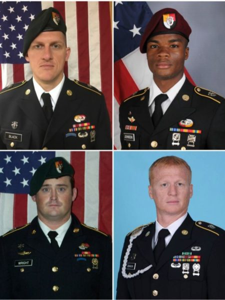 Four US soldiers killed while on duty in Niger