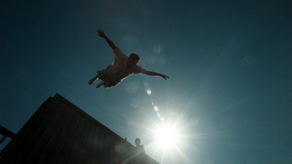 Jumping off a roof