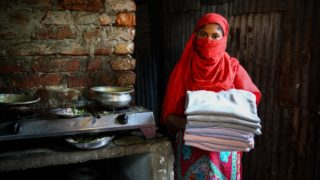 Forida - Bangladesh garment factory worker. Oxfam Australia living wage report